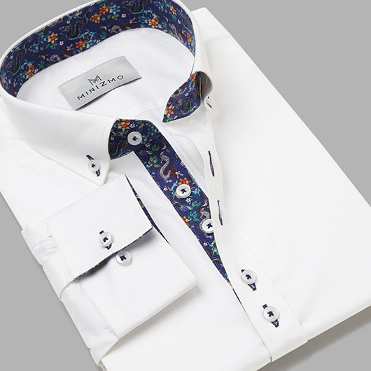 Ubud White Cotton Shirt