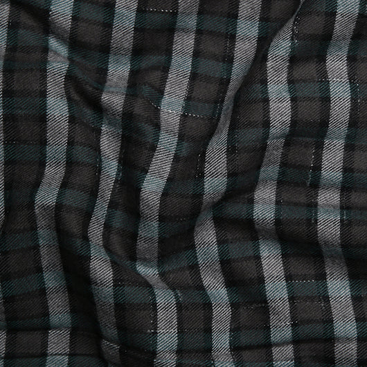 Pine Grey Brushed Cotton Check Shirt