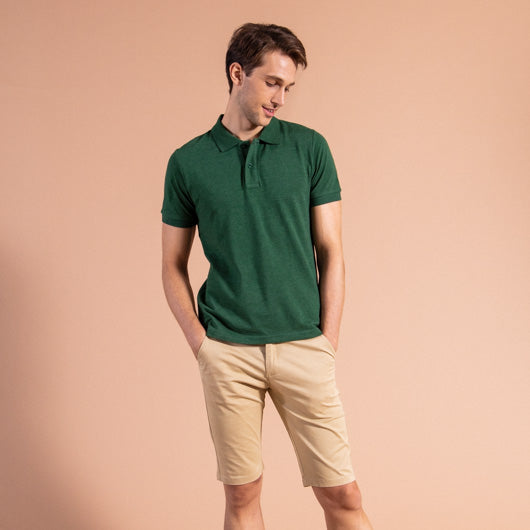 Cypress Cool Green Cotton Polo T-Shirt