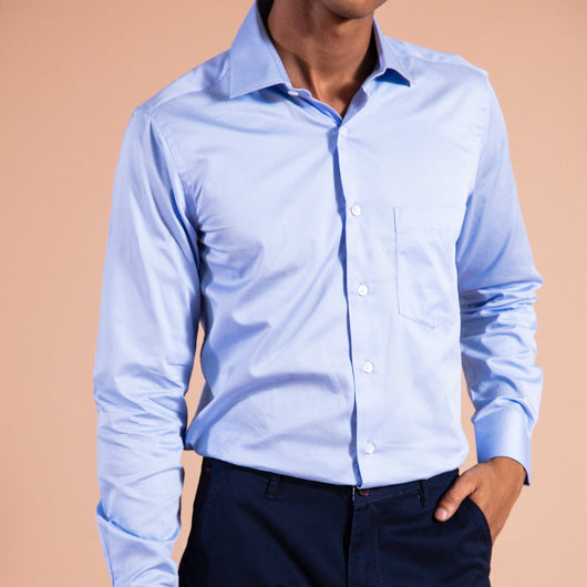 Formal Sky Blue Shirt