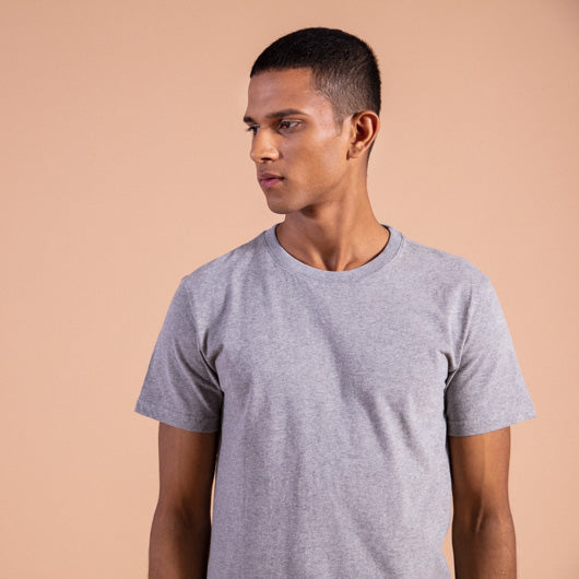 Timber wolf light grey round neck t-shirt