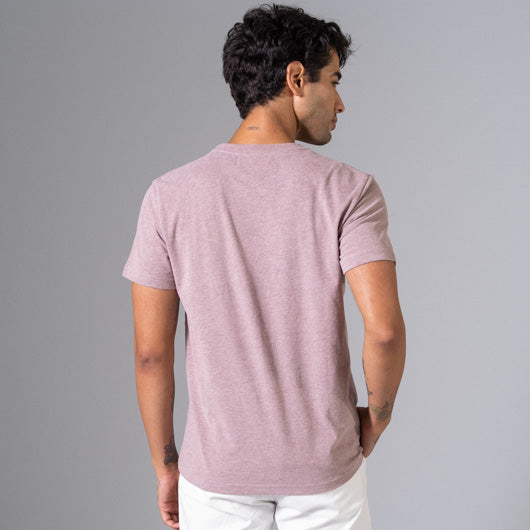 FADED RUSSET LIGHT MAROON ROUND NECK T-SHIRT
