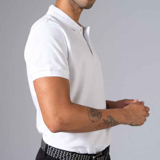 Vanilla Frost White Cotton Polo T-Shirt