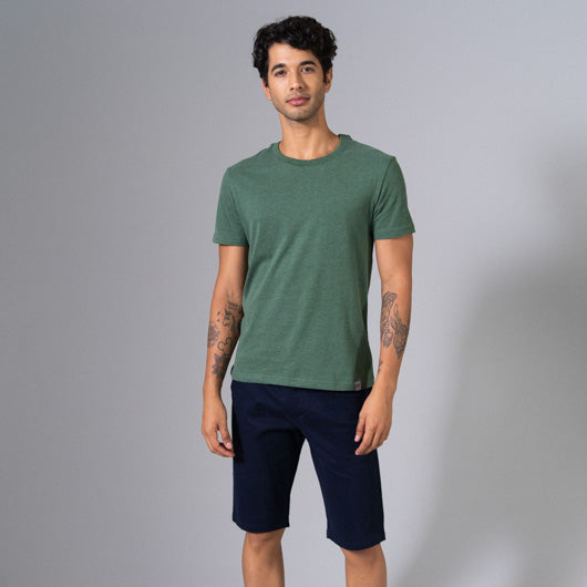 EAGLE FERN GREEN ROUND NECK T-SHIRT