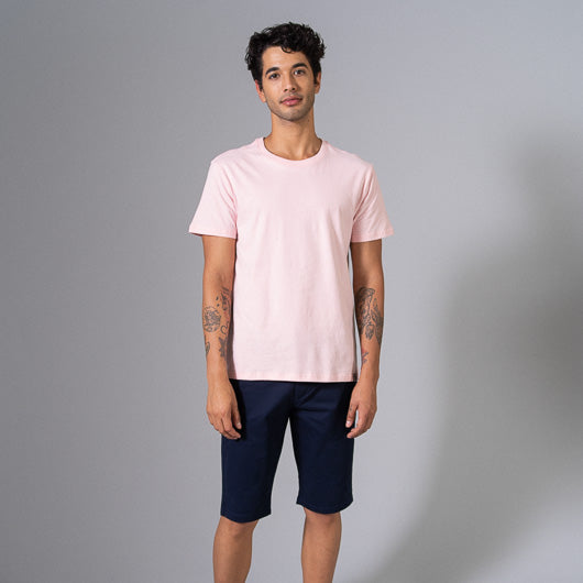 SHRIMP COCKTAIL PASTEL PINK ROUND NECK T-SHIRT