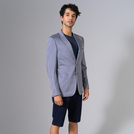 Midsummer Moon Grey Linen Blazer