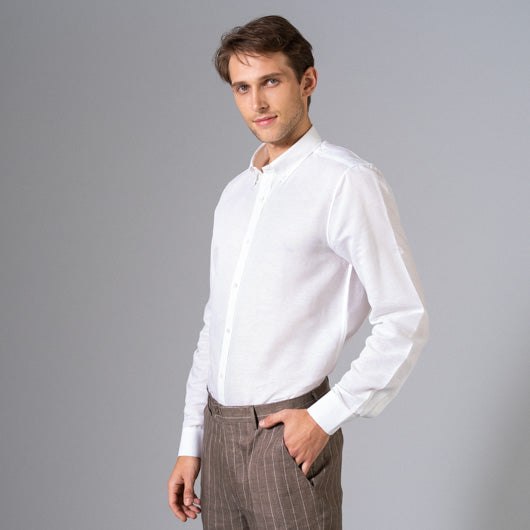 Breezy White Linen Shirt