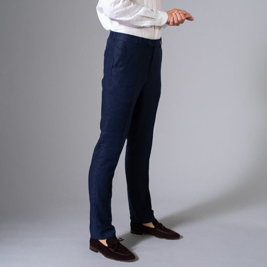 Indigo Cruise Linen Pants