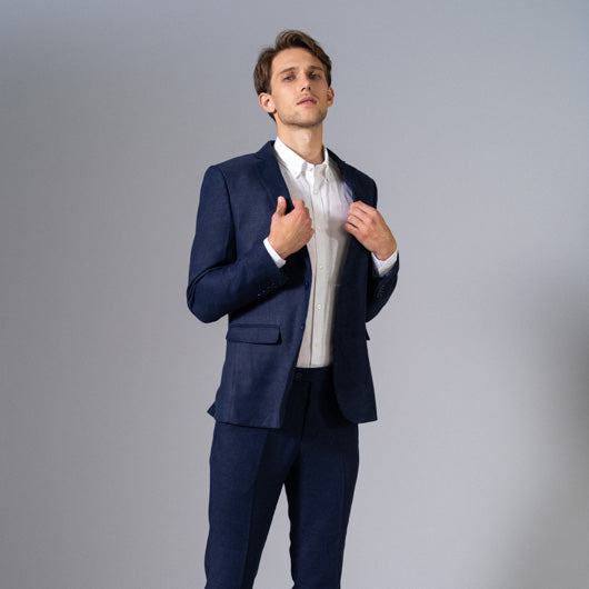 Indigo Cruise Midnight Blue Linen Suit