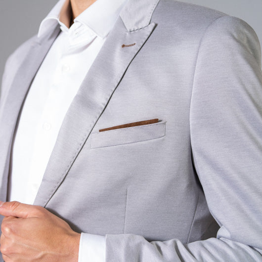 Sea Foam Light Grey Linen Blazer