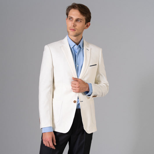 Shaved Ice Off-White Linen Blazer