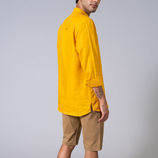Light Bringer Mustard Short Kurta