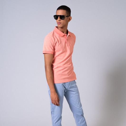 Flamingo Fancy Pink Cotton Polo T-Shirt