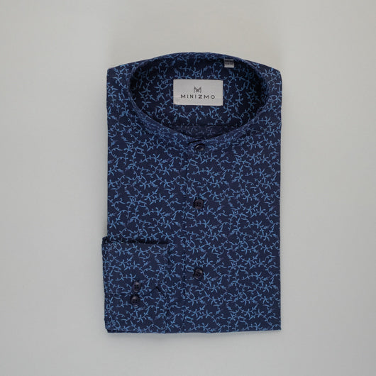 Deep Blue Veins Cotton Shirt