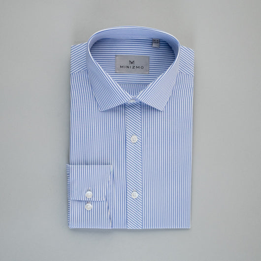 Striped Blue Cotton Shirt