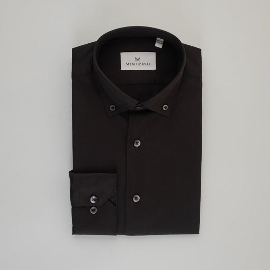 Rich Black Cotton Shirt