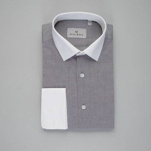 Smoke Grey Cotton Shirt