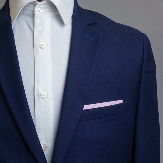 Peachy Pink Pocket Square