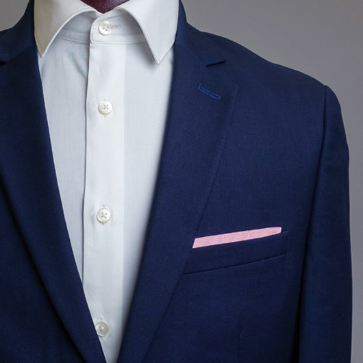 Solid Blush Pocket Square