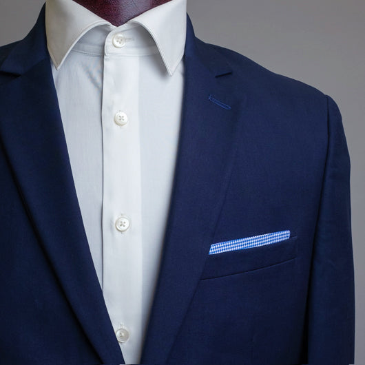 Working Blue Pocket Square