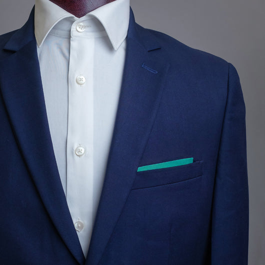 Ochre Greens Pocket Square