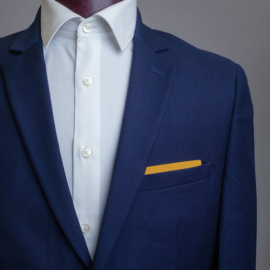 Ochre Night Pocket Square