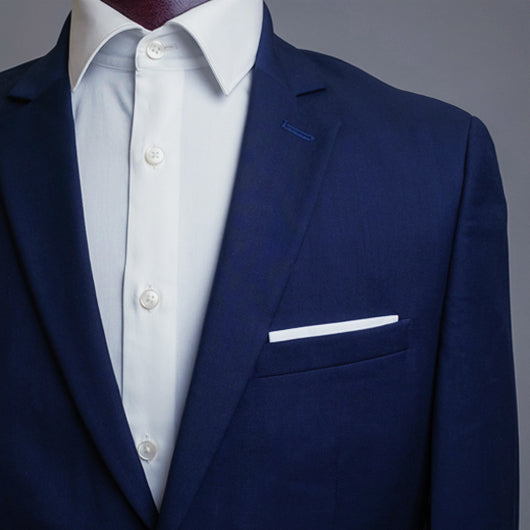White and Wine Pocket Square