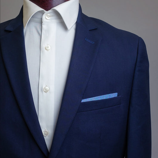 Bleeding Blue Pocket Square