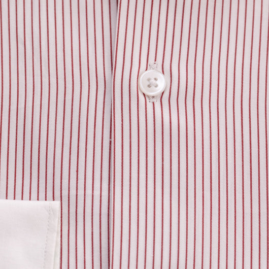 Red Crossing Cotton Shirt