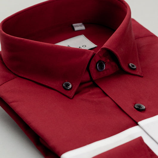Rose Red Cotton Shirt