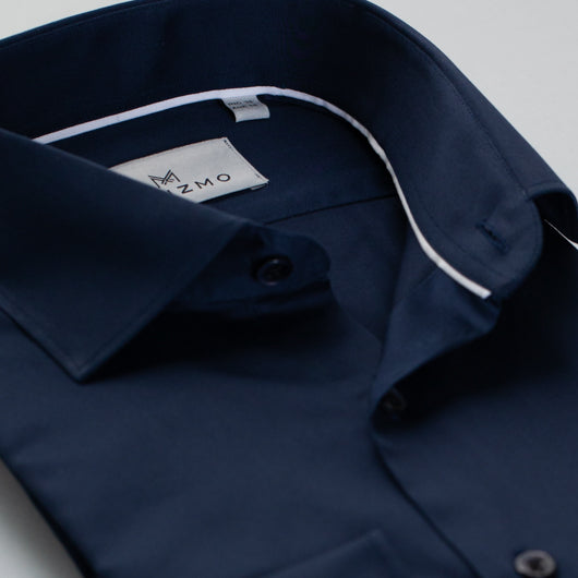 Navy Cut Cotton Shirt
