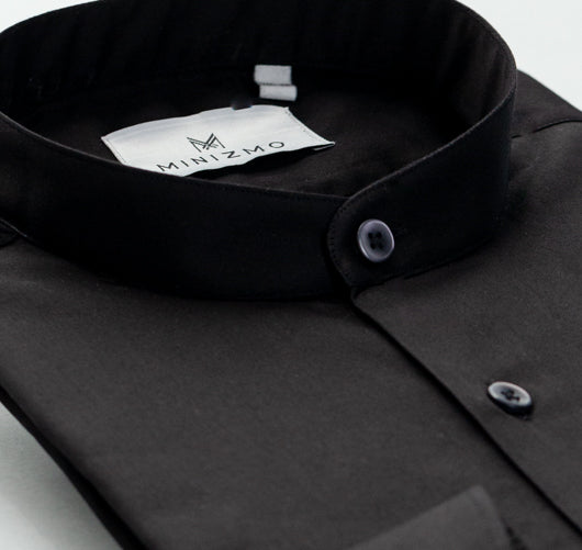 Cobalt Black Cotton Shirt
