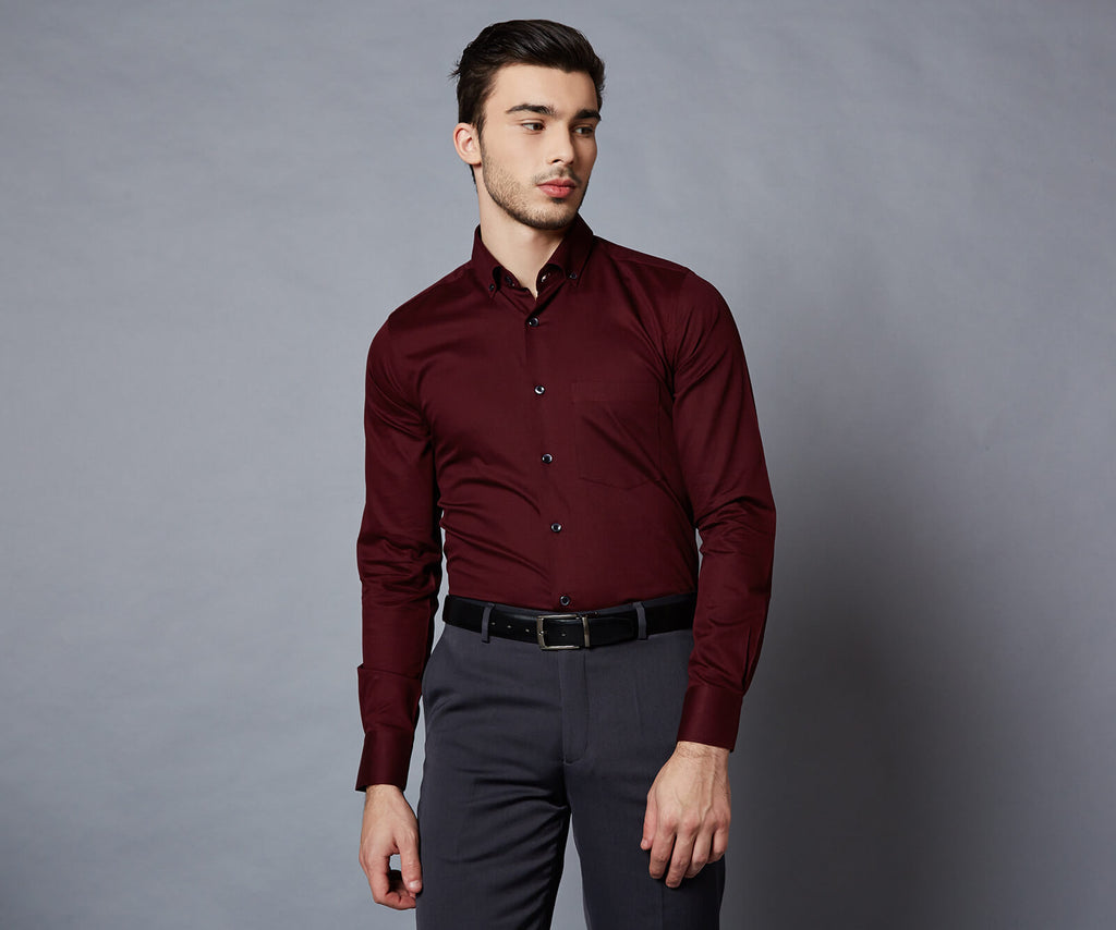 Carerra Maroon shirt