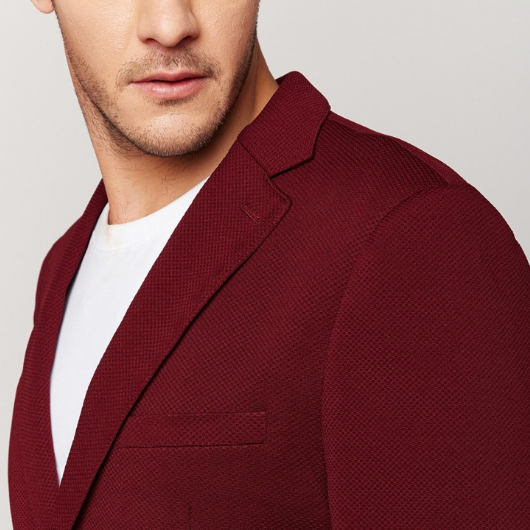 Burgundy Knit blazer