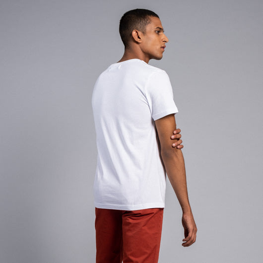 Ski Trip White Round Neck T Shirt