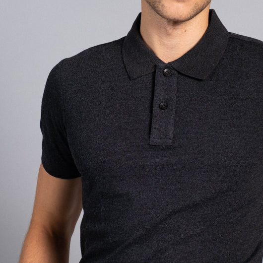 Black Onyx Black Cotton Polo T-Shirt