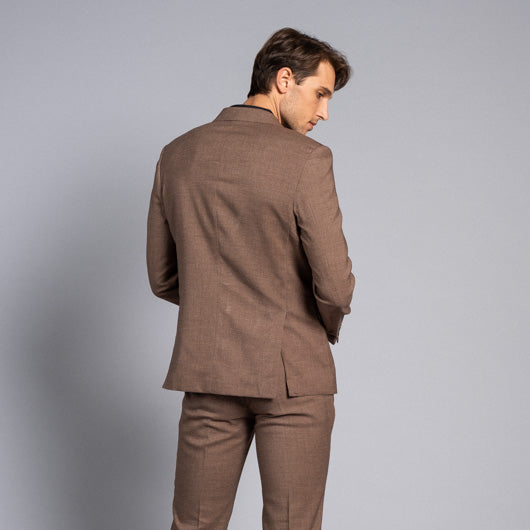 Safari Brown Linen Two-Piece Suit