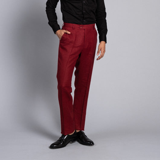Canterbury Red Linen Pant