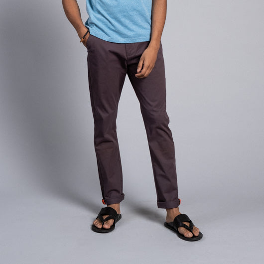 Canyon Jumper Dark Brown Cotton Lycra Stretch Chinos