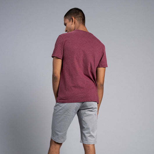 FRENCH WINE MAROON ROUND NECK T-SHIRT
