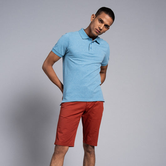 Arctic Explorer Light Blue Cotton Polo T-Shirt