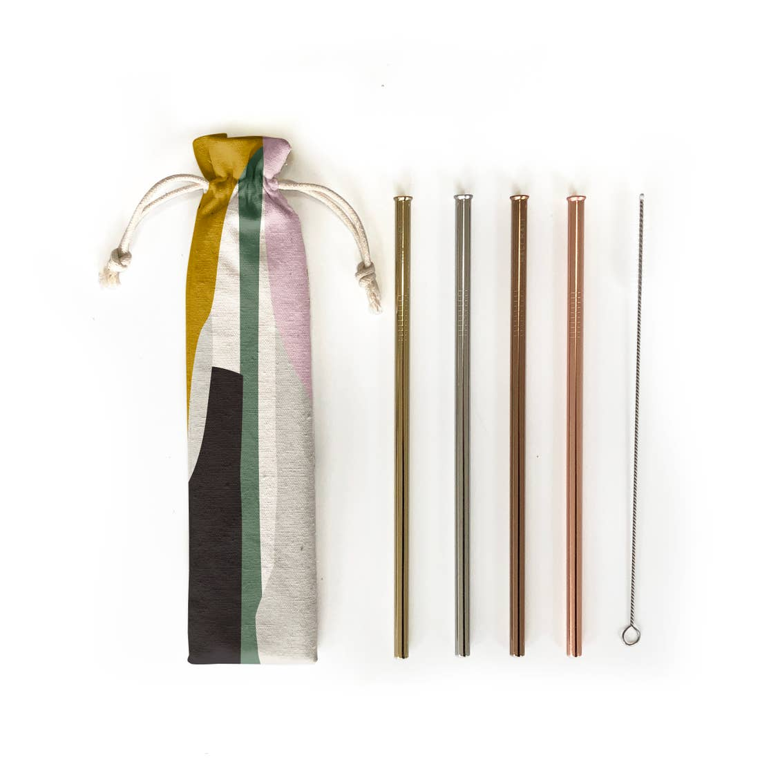 Hali Hali: 6 pc Eco Friendly Reusable Straw Set- Blocks