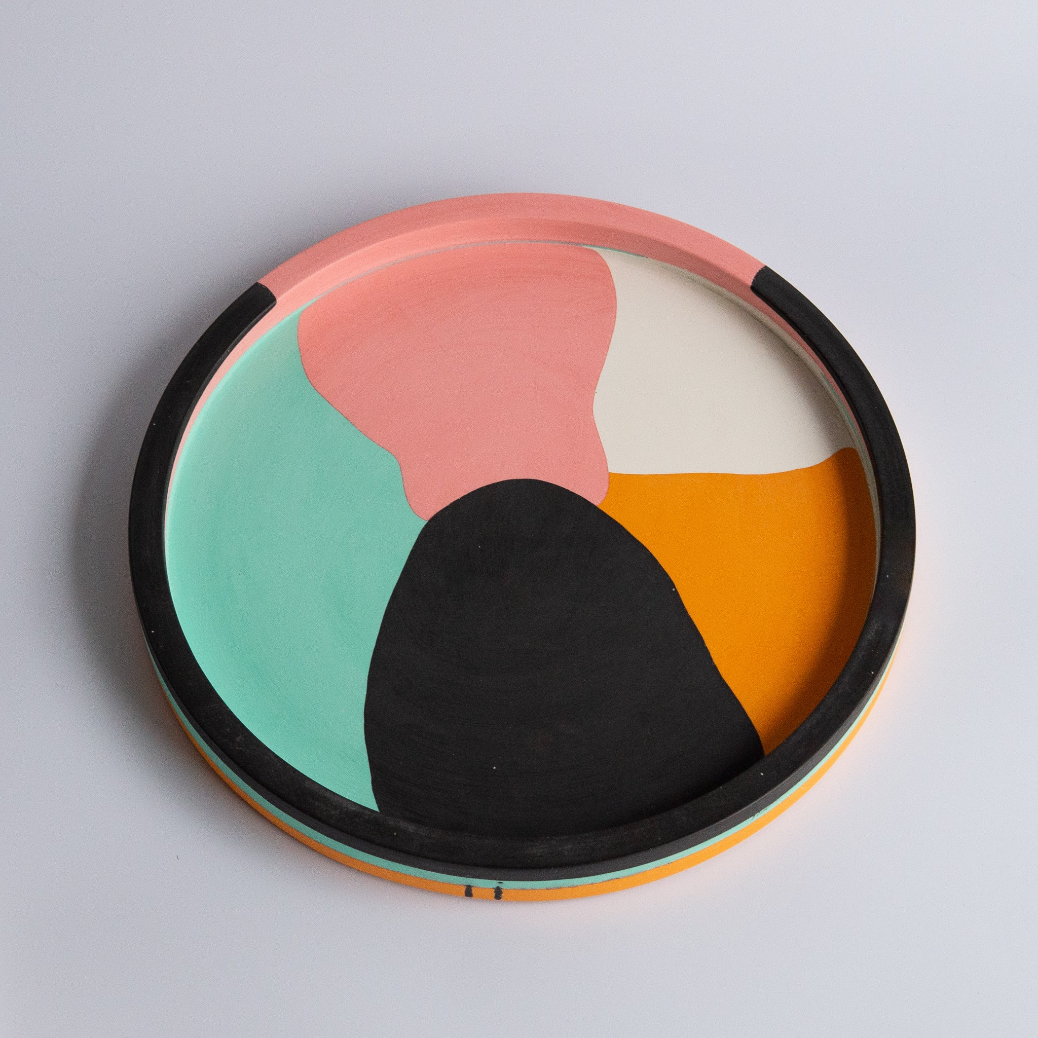 "Emily Marlin: 12"" Sherbet Poured Round Tray"