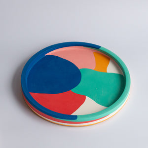 "Emily Marlin: 12"" Royal Poured Round Tray"