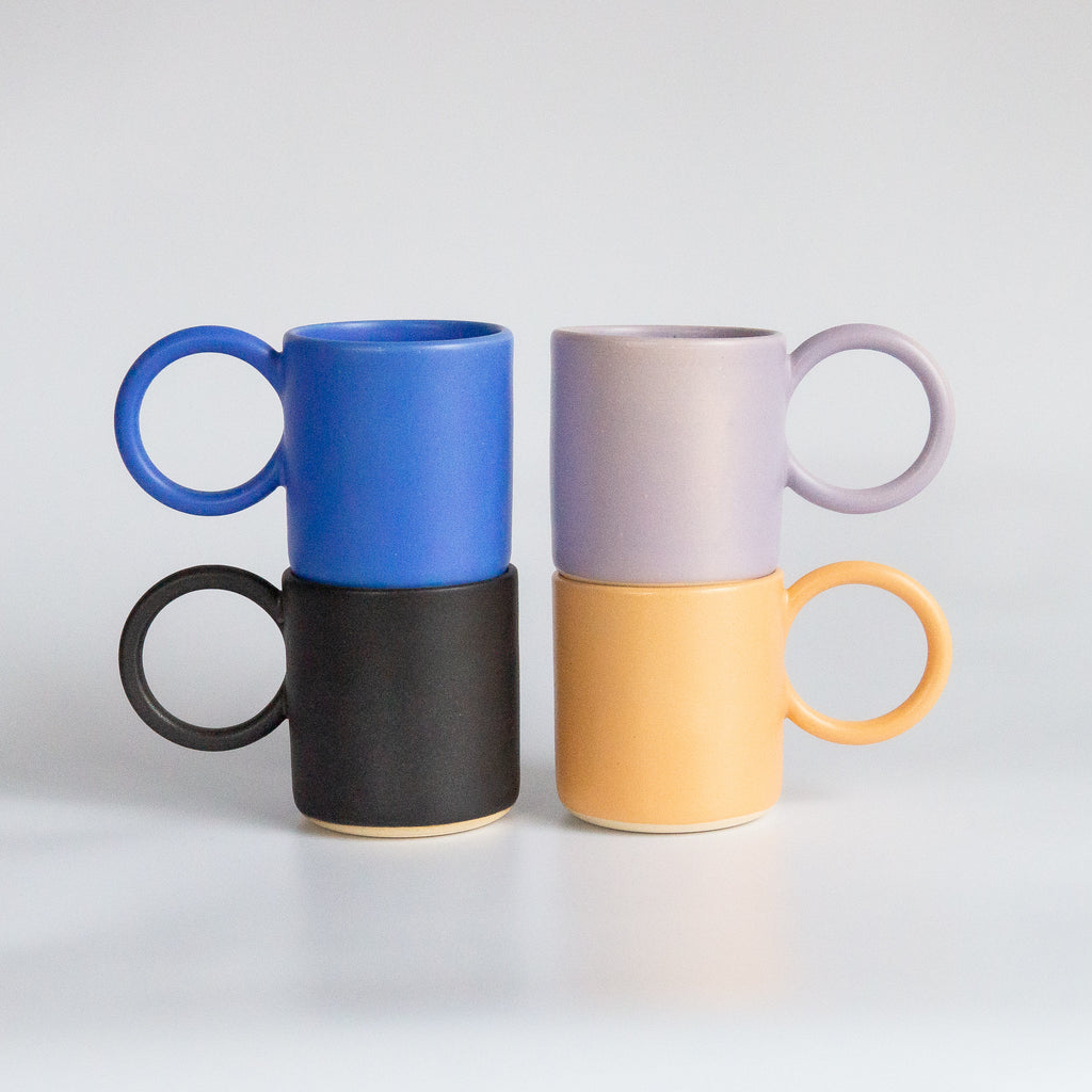 I And You Ceramics: Round Handle Mugs (Barcelona Artist)