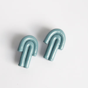 Paradox Polymer: Double Arch Earrings