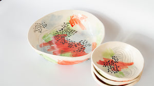 "Technicolor Dino: 12"" Large Serving Bowl"