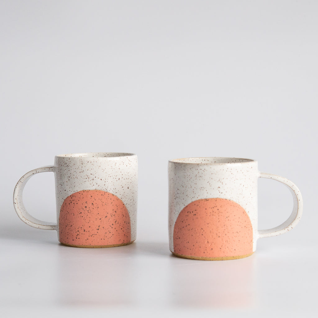 Earth and Her Flower: White/Coral Nera Mug