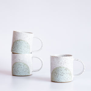 Earth and Her Flower: White/Blue Nera Mug