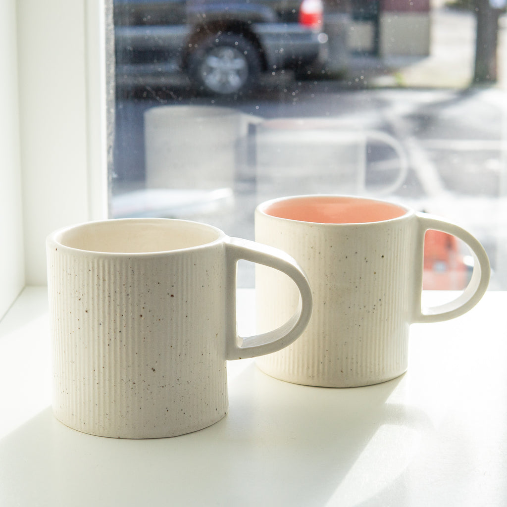 Milk Workshop: Stoneware Speckle Mugs